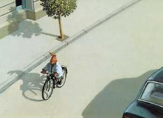 lapin à bicyclette
